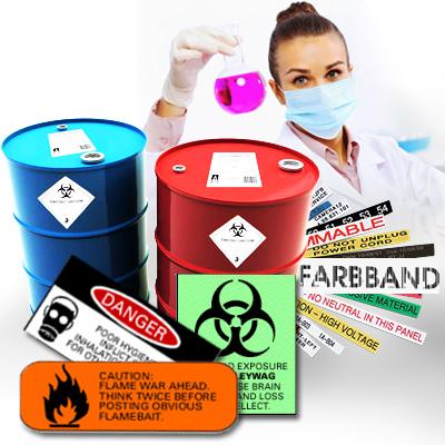 Печать этикеток в химической отрасли